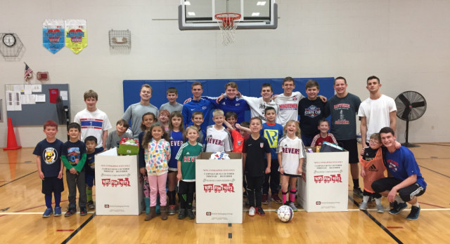 Boys soccer holds Toys for Tots event