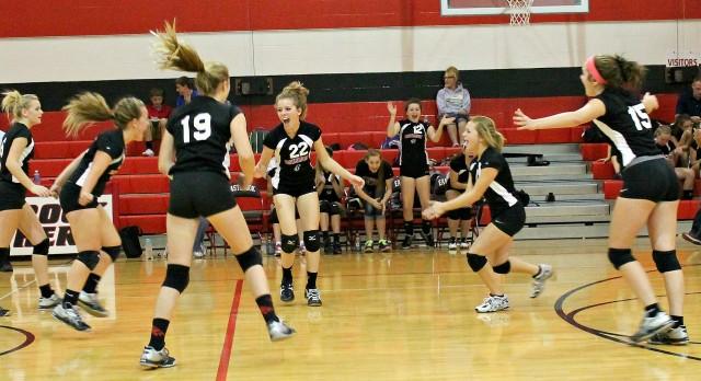 Junior High Volleyball Battles Madison-Grant