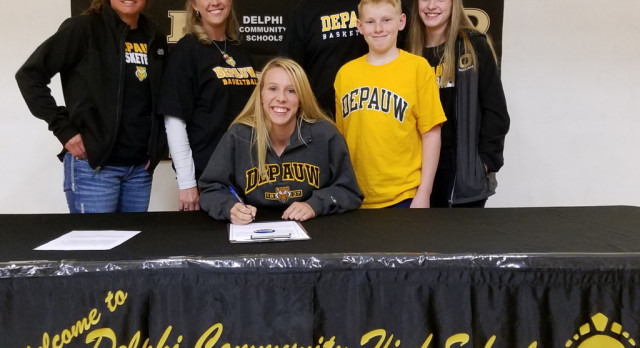 Bailey Gasser signs with DePauw University