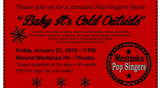 Melt Away the Winter Blahs at the Westonka Pop Singers Show