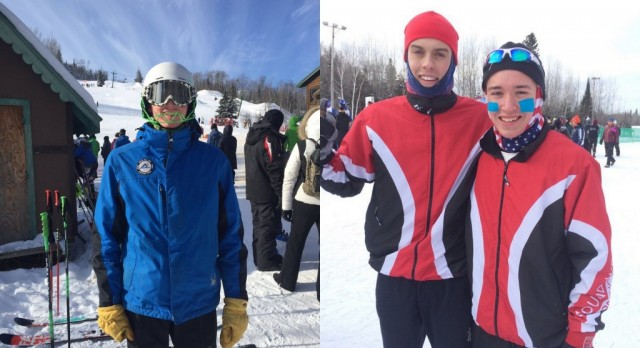 Three White Hawks Ski at State Meets