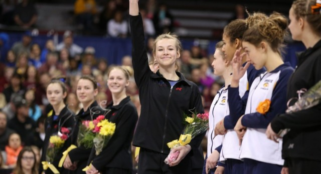 Gymnastics Team Takes Fifth at State