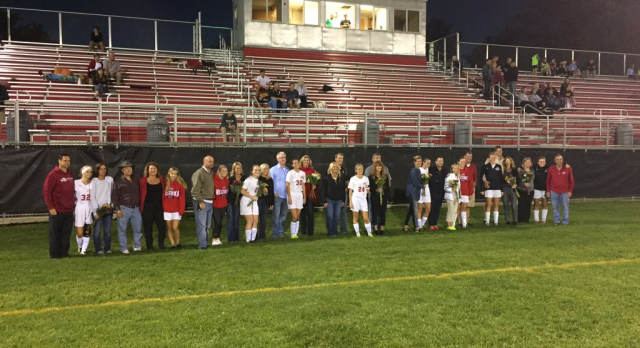 Girls Soccer Honors Seniors with Win, Falls Twice on the Road