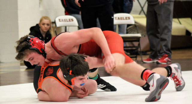 White Hawks Wrestlers Win Section Dual