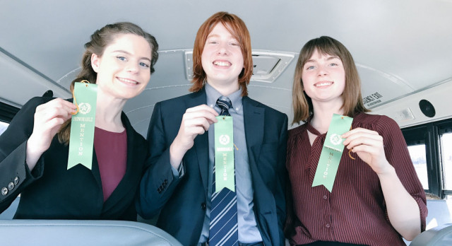 Three Earn Ribbons at Northfield Speech Tourney