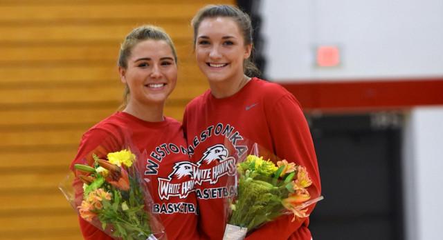 Girls Basketball Celebrates Pair of Seniors