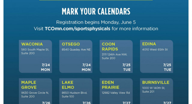 Register for a Free Sports Physical