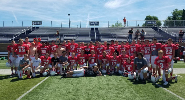 Talent on Display at Augustana Football Camp