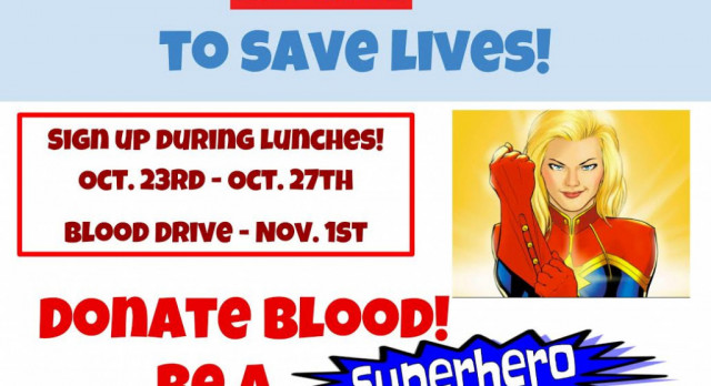 NHS Blood Drive Scheduled for Nov. 1