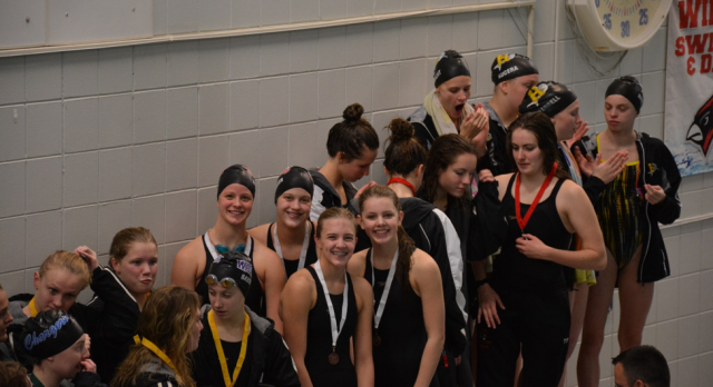 Nine Compete in Girls Swim and Dive Section Finals, Five Qualify for State