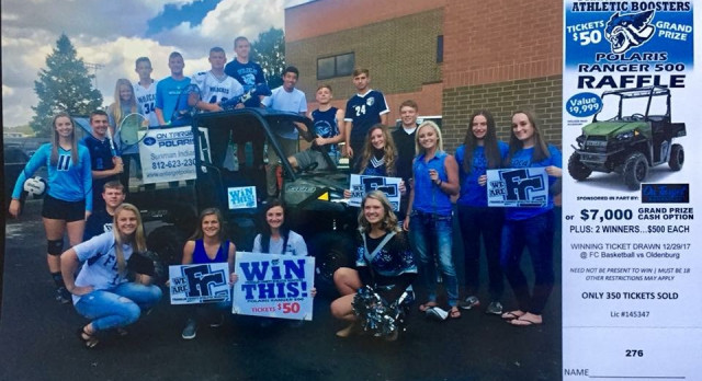Win a UTV from the FCHS Athletic Boosters!!!