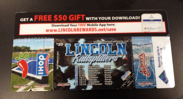 """Lincoln Football Program offering """"Gold"""" Cards!"""