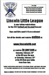 Lincoln Little League Flyer