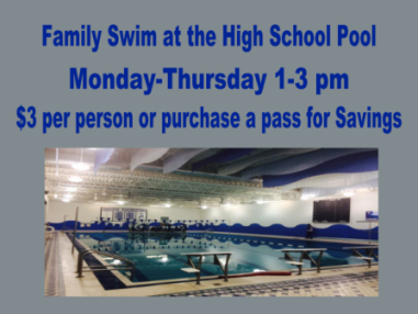 Family Swim Afternoons at the High School Pool