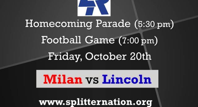 Lincoln Homecoming Varsity Football vs Milan