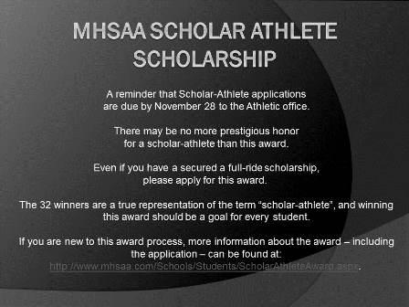 MHSAA Scholar Athlete Scholarship