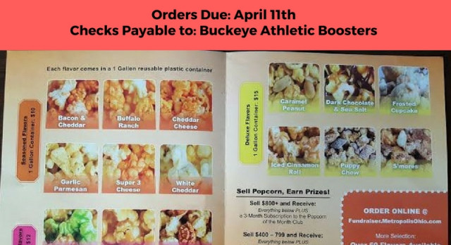 Warrior Cheer Popcorn Fundraiser