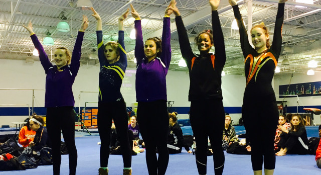 Maumee High School Girls Varsity Gymnastics finishes 3rd place