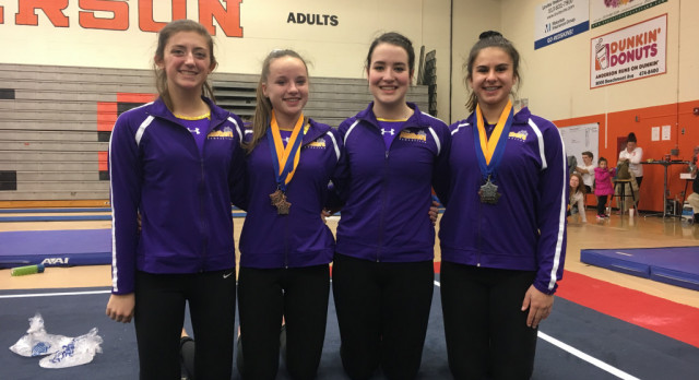 Maumee High School Girls Varsity Gymnastics finishes 4th place
