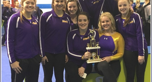 Maumee High School Girls Varsity Gymnastics finishes 2nd place