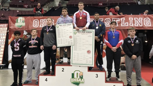 MHS junior Brandon Phillips captures second place at the 2017 Division II State Championships