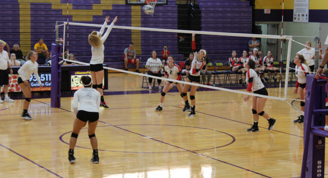 Maumee Varsity Volleyball beat Cardinal Stritch 3-0