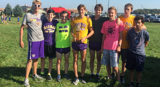 Maumee High School Boys Varsity Cross Country finishes 2nd place