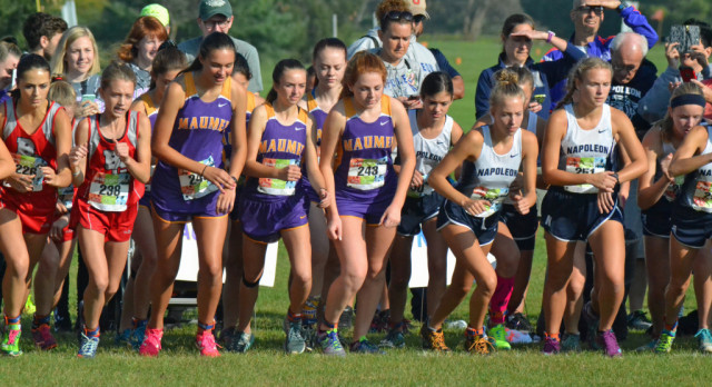 Maumee High School Girls Varsity Cross Country finishes 8th place