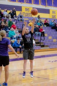 Emily Junga '10 fires a jumper