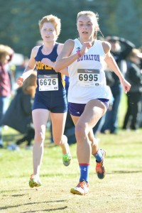 Photo by BRUCE BILLOW  DUAL THREAT North Royalton senior Taylor Badamo is the rare distance-sprinter combination athlete. She is looking to make it to the state cross country meet this fall.