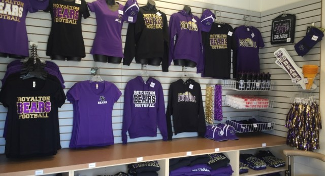 Purple & Gold Booth at all Varsity Football Games