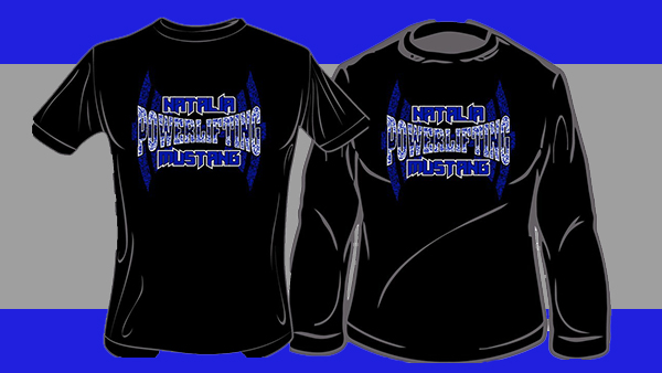 Powerlifting t shirts on sale natalia mustangs for High school basketball t shirts