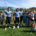Varsity Players Connecting with FHN Community