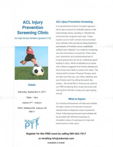 ACL Injury Prevention Clinic