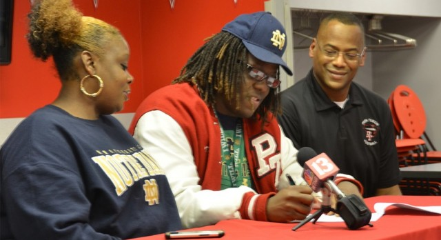 Brandon Tiassum '15 signs to Notre Dame