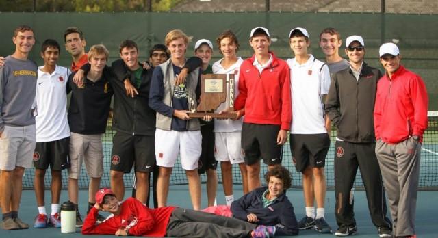 Boys Tennis captures sectional championship