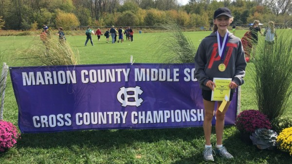 Carly Wiegel Marion County Champion Girls Cross Country