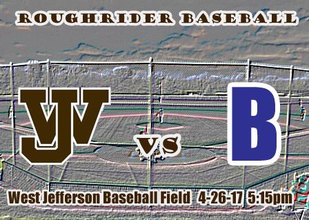 Varsity Baseball vs Bexley 4-26-17