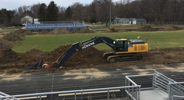 Construction Starts on Track, Football Field and Tennis Courts