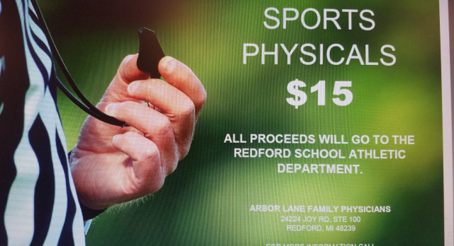 $15 Athletic Physicals