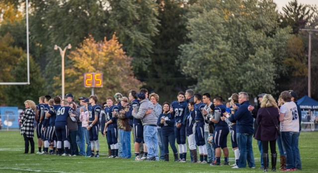 Lafayette Central Catholic High School  Varsity Football beat West Lafayette-Senior Night 38-20