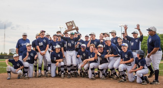 Lafayette Central Catholic High School  Varsity Baseball beat Seeger High School 12-1
