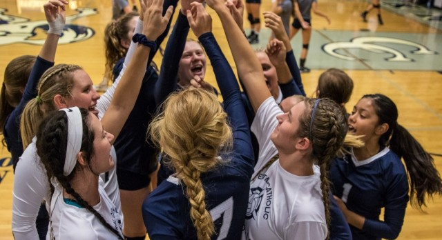 Lady Knights Volleyball handles the Falcons of Frontier