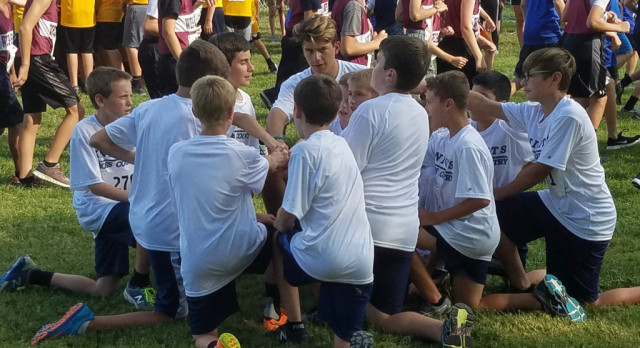 Jr. High Knights XC Teams Compete at Tecumseh