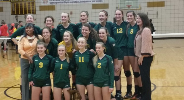 Dow Volleyball Wins District