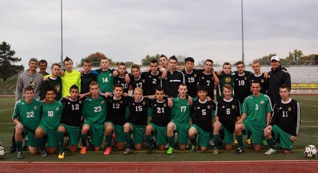 H.H. Dow High School Boys Varsity Soccer beat Midland High School 2-0