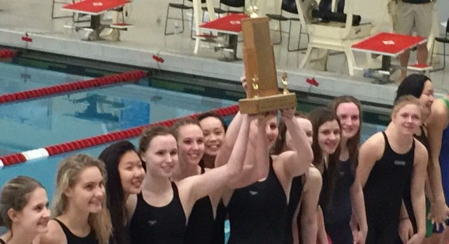Dow High wins record 10th straight SVL girls' swim title