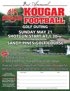 Kougar Football Golf Outing Flyer