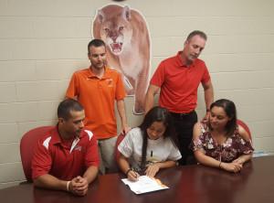 Julianna signing