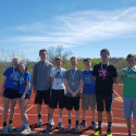 Medalists from Desoto Track meet
